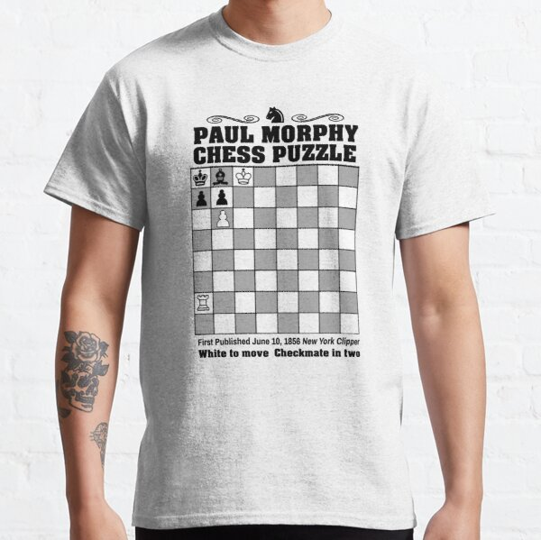 Paul Morphy--Chess Puzzle Classic T-Shirt
