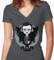 Edgar Allan Poe Shirt mit V-Ausschnitt