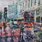 London Art - Red Bus by Ballet Dance-Artist