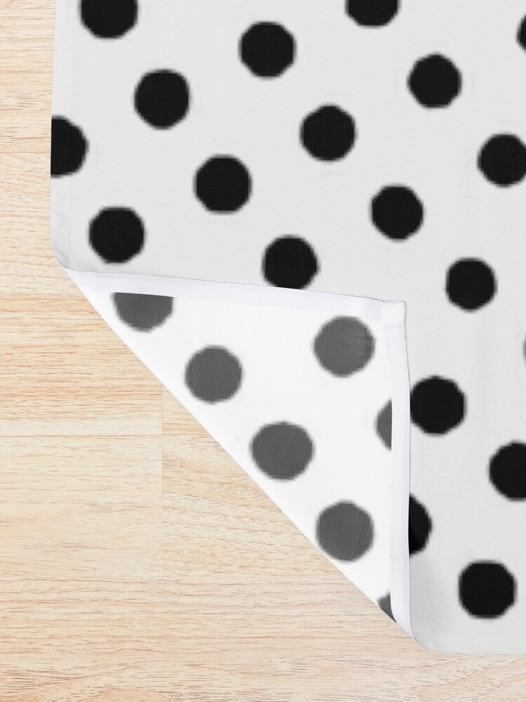 Alternate view of Dots Shower Curtain
