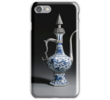 A Ming blue and white porcelain ewer with ottoman silver mounts stamped with the tughra of Mehmed  iPhone Case/Skin