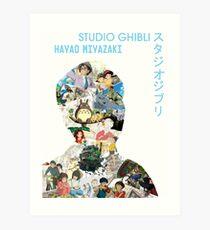 Studio Ghibli Hayao Miyazaki Collage Print Art Print