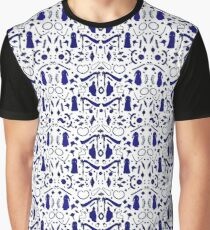 Victorian Fashion - Blue Graphic T-Shirt