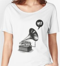 Hip-Hop Gramophone Women's Relaxed Fit T-Shirt
