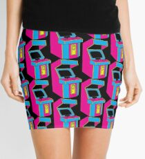 Stand Up, Old School Arcade Game (CMYK) Mini Skirt