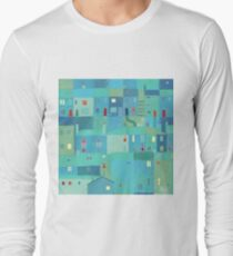 Blue town from the steps T-Shirt