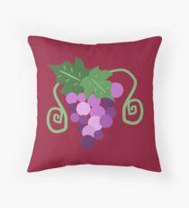 Purple Grapes Throw Pillow