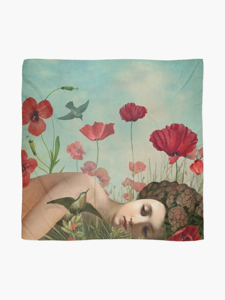 Alternate view of In the Poppy Field Scarf