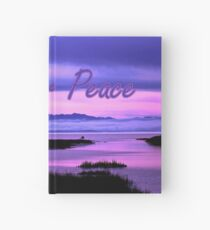 pray for peace (pink scenic) Hardcover Journal