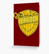 DREDD Greeting Card