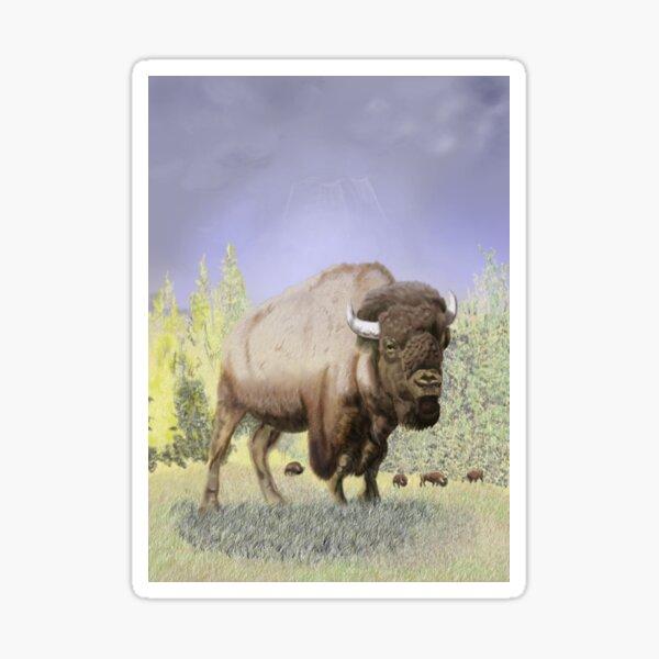 Bison on the Range Sticker
