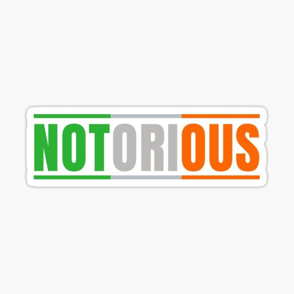 Notorious Conor McGregor Sticker