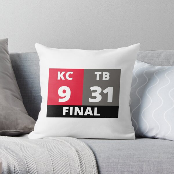 TB 31 KC 9, Tampa Bay Football Championship, Tampa Bay Champions 2020 Throw Pillow
