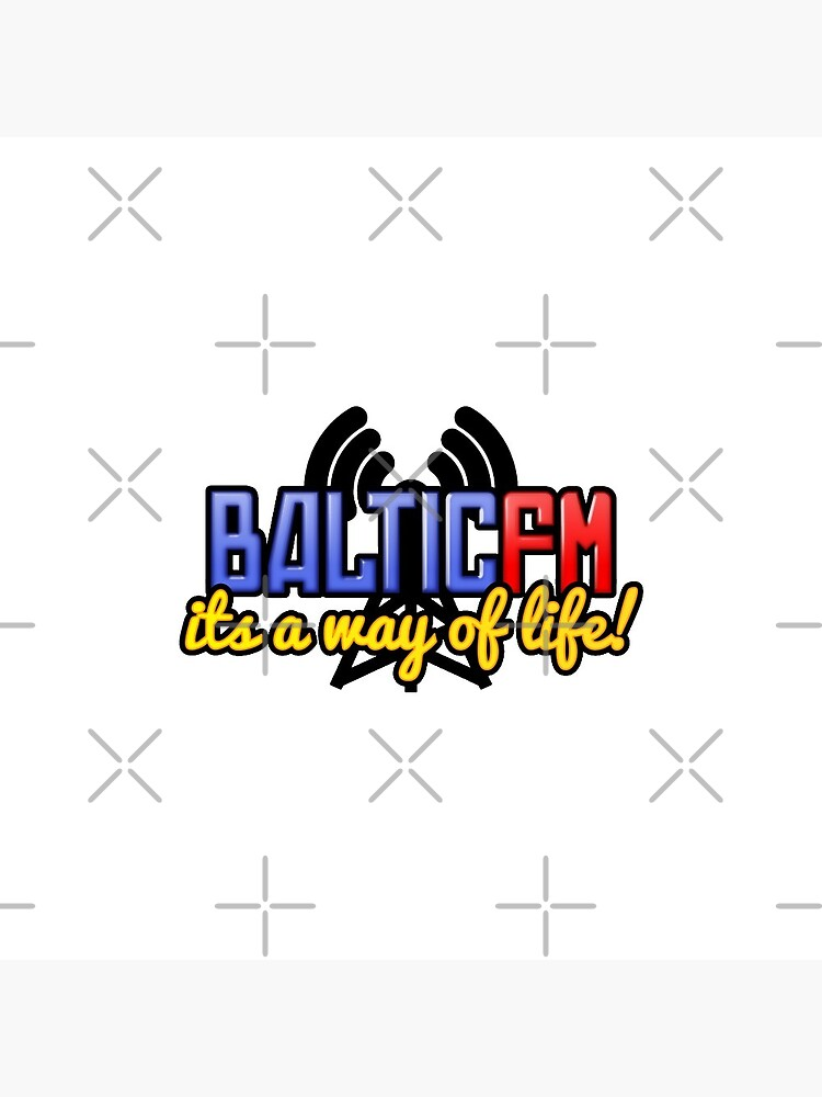 BalticFM Pin Badge by dropabomboff