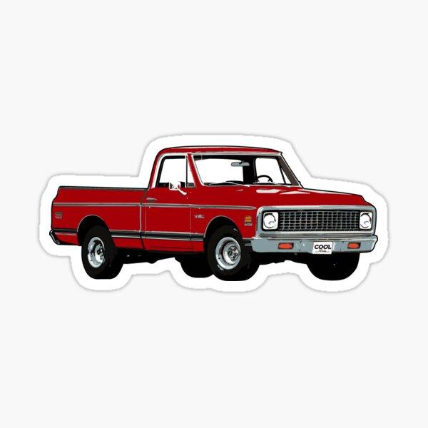 67-72 Red C Truck Sticker