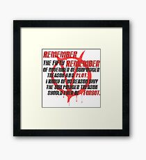 v for vendetta quote Framed Print