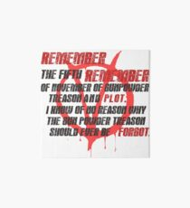 v for vendetta quote Art Board