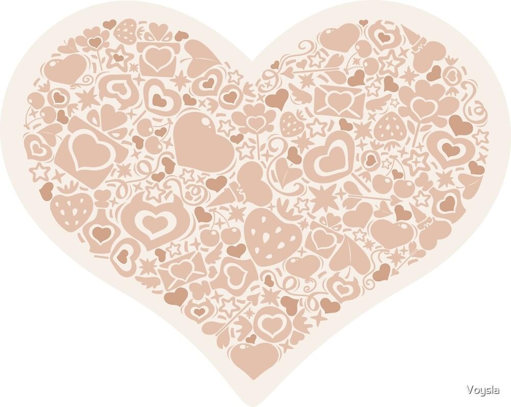 Valentites heart of objects beige by Voysla