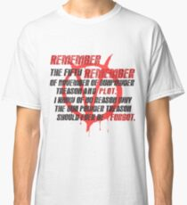v for vendetta quote Classic T-Shirt