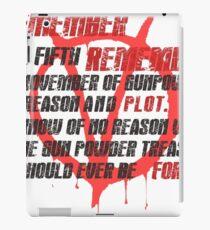 v for vendetta quote iPad Case/Skin