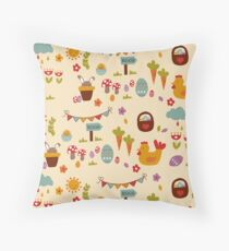 Egg Hunt Throw Pillow