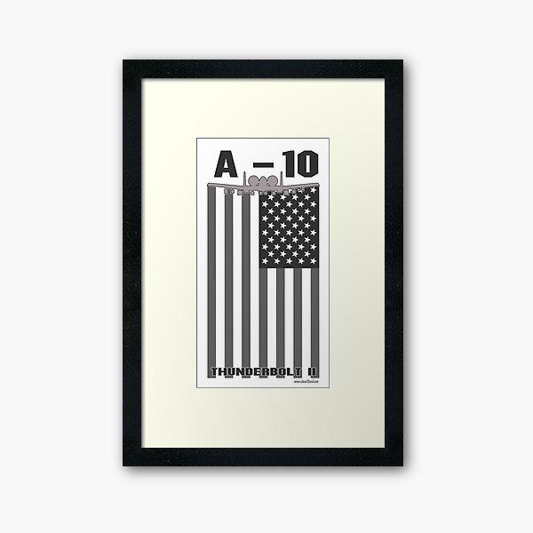 A-10 Flag Framed Art Print