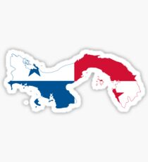 Flag Map of Panama  Sticker