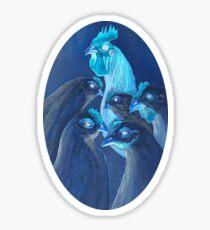 Henpecked In Blue Sticker