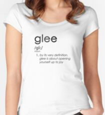 Unapologetic Gleek Women's Fitted Scoop T-Shirt