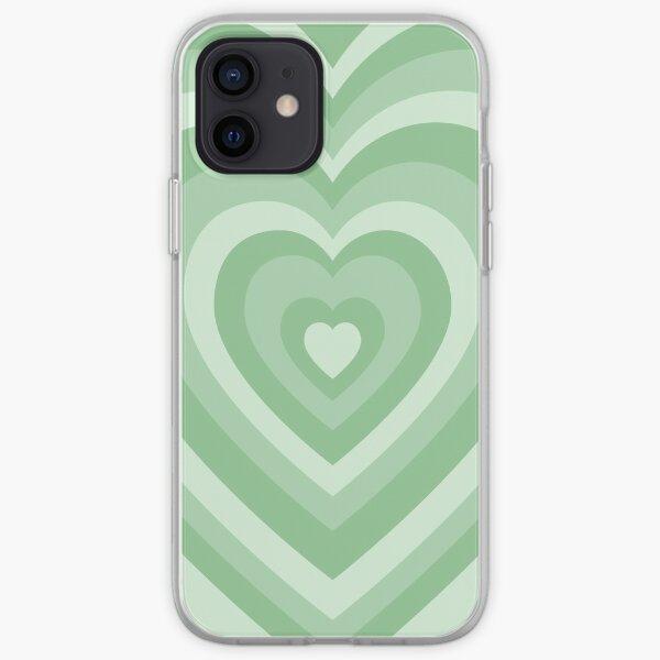 Las chicas superpoderosas aman el patrón del corazón | verde pastel Funda blanda para iPhone