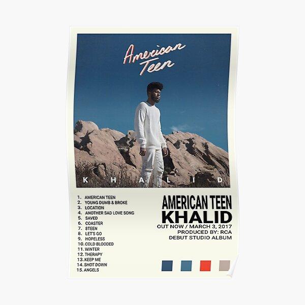 Khalid Album   American Teen Poster
