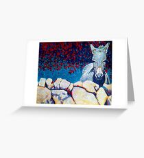 Wall, Donkey, Ireland Greeting Card