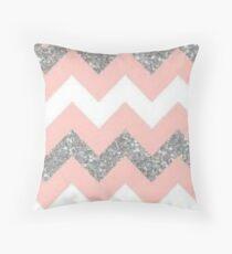 Sparkle pink silver. Throw Pillow