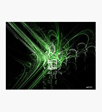 Rupture Green Photographic Print