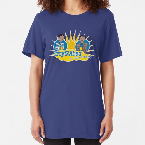 Troy and Abed in the Morning Slim Fit T-Shirt