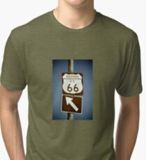 Get Your Kicks On Route 66 Tri-blend T-Shirt