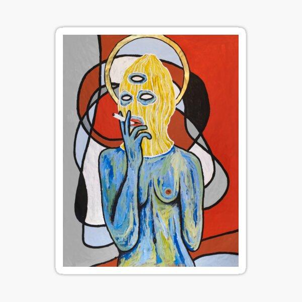 Virgen de la entropía Pegatina