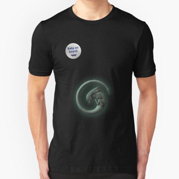 Alien on Board! Slim Fit T-Shirt
