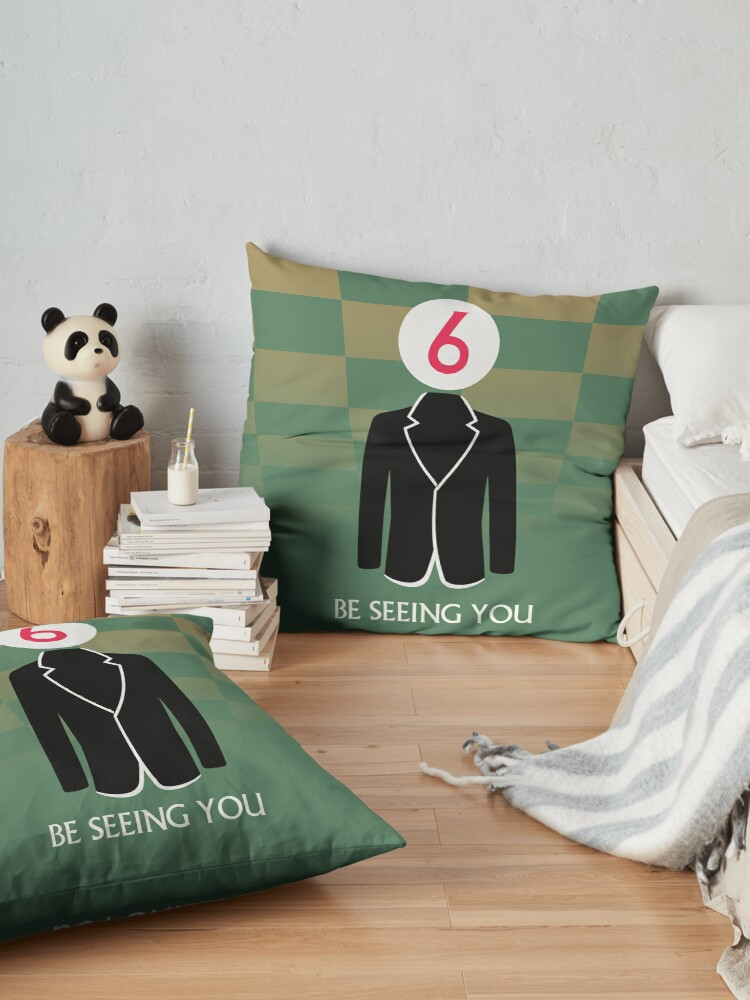 Alternate view of The Prisoner Be Seeing You Design Floor Pillow