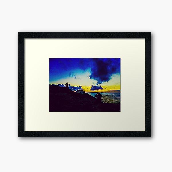 Sunset in Sagres - The End of the World Framed Art Print
