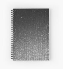 Silver Hue Glitter Sparkles Texture Photography Spiral Notebook