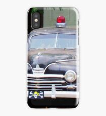Vintage Police Car iPhone Case/Skin
