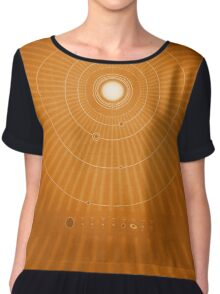 Solar System Hot Women's Chiffon Top