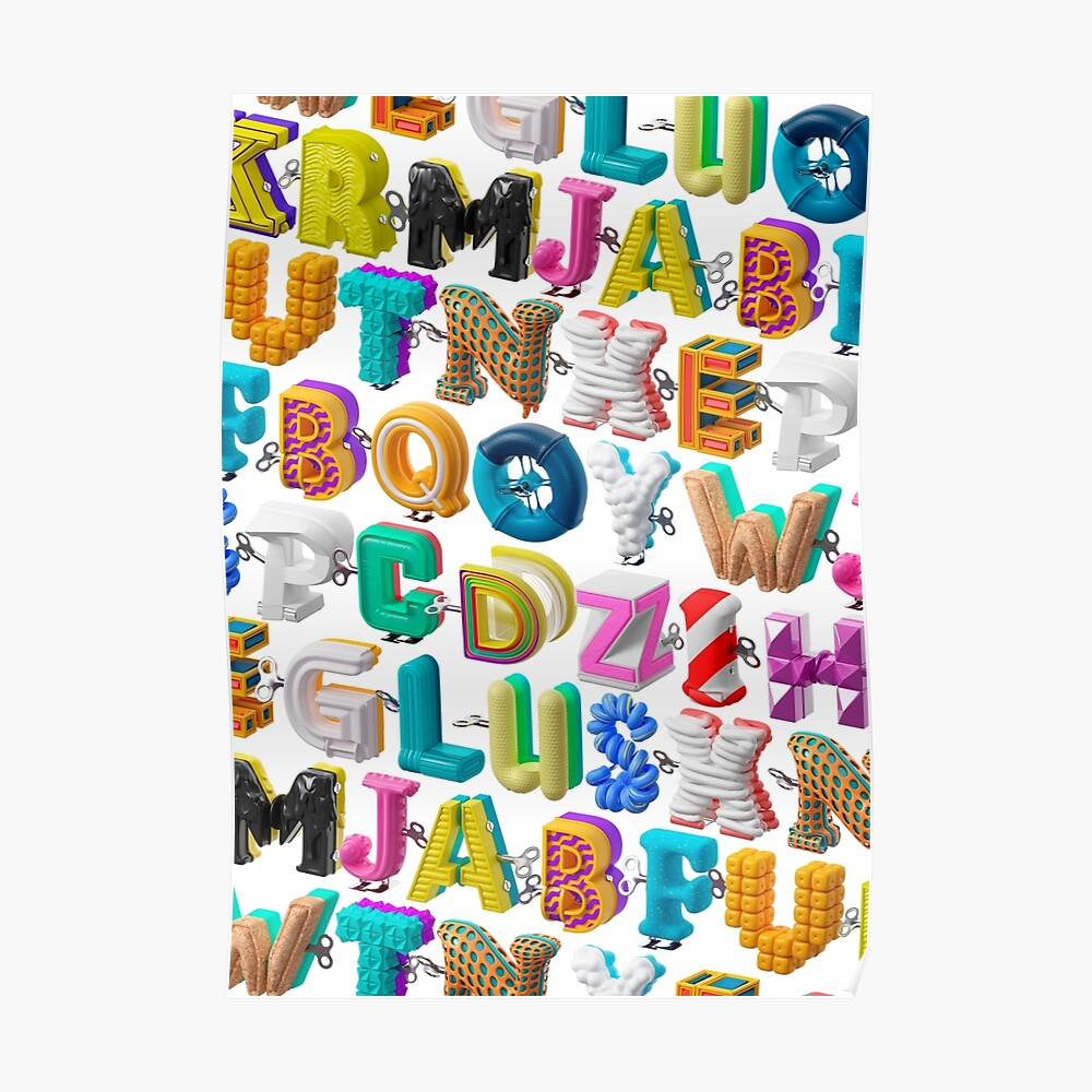 The Alphabet is your Playground Poster