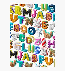 The Alphabet is your Playground Photographic Print
