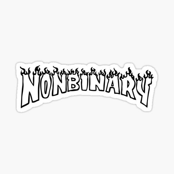 nonbinary thrasher font w Sticker