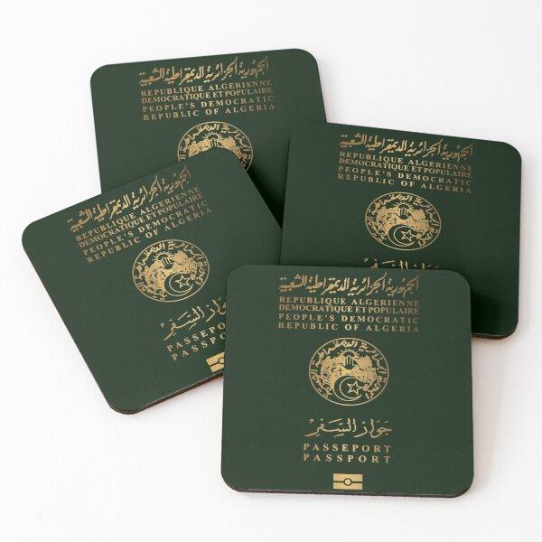 Passeport Algérien v3 Dessous de verre (lot de 4)