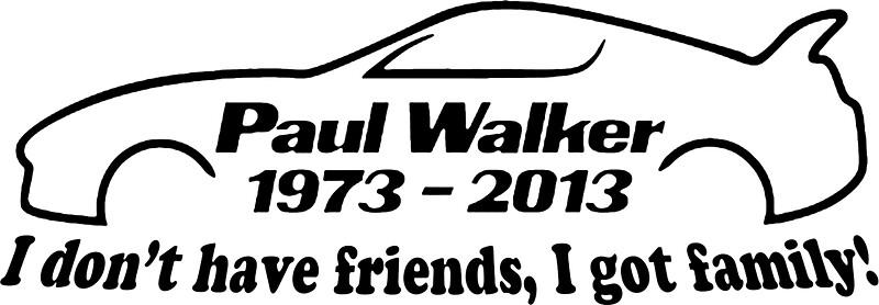 Paul Walker: Stickers