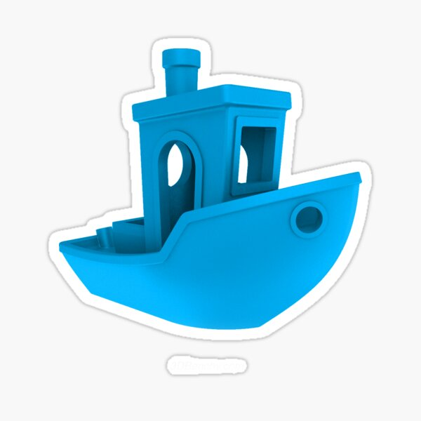 3D Benchy LIGHT BLUE Sticker