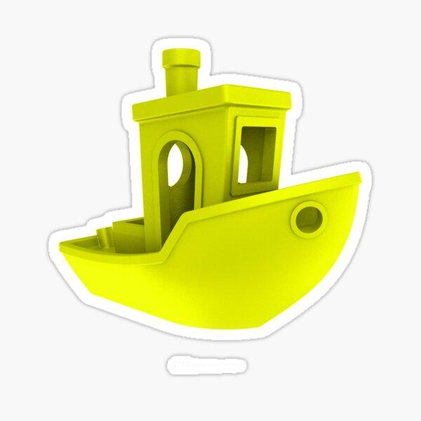 3D Benchy YELLOW Sticker
